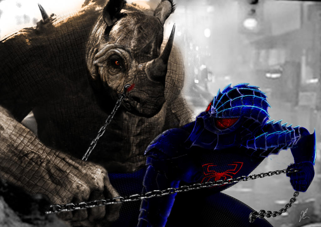 Mortal Kombat XI spiderman vs rhino by FredrikEriksson1