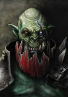 Ork Warboss portrait by FredrikEriksson1