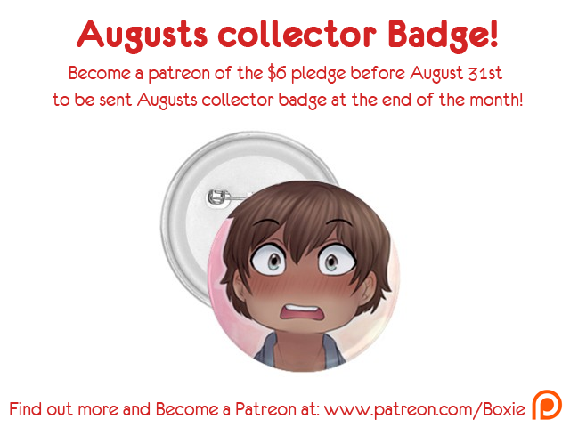August 2014 collector badge by Little-Miss-Boxie