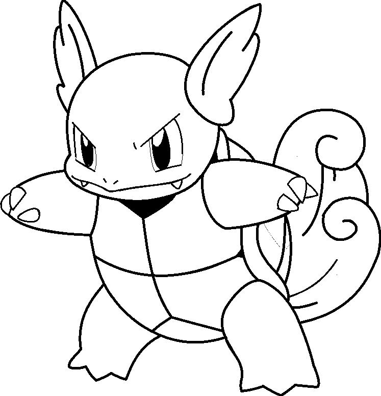 pokemon coloring pages of blastoise - photo#28