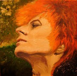 David Bowie in oils by sunstrip