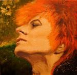 David Bowie in oils