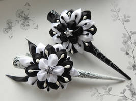 Paired hairpins (Black and White)