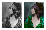 Bohemian Woman Colourised by matt-g-ellis