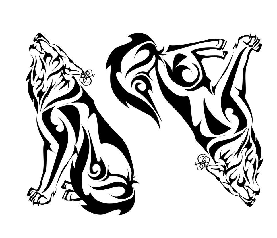 Tribal Wolf Wallpaper: Wolf Tribal By Sleepingvelvet On DeviantArt