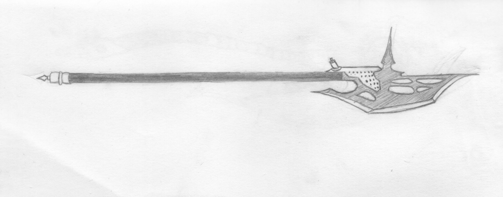 Halberd - sketch by leon0015