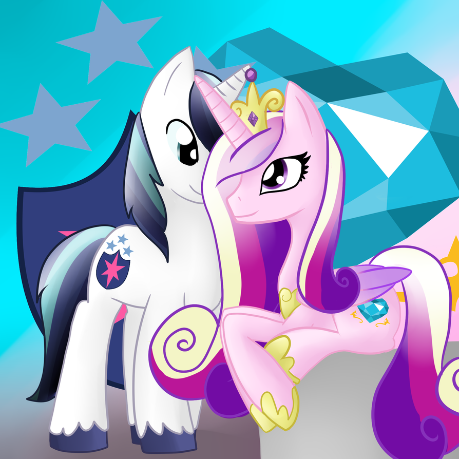 Princess Cadence And Shining Armor by lupie1324 on DeviantArt