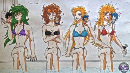 Pin-Up Female Saints (colored)