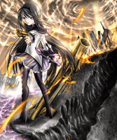 Akemi Homura  Endless Battle by rinfiora