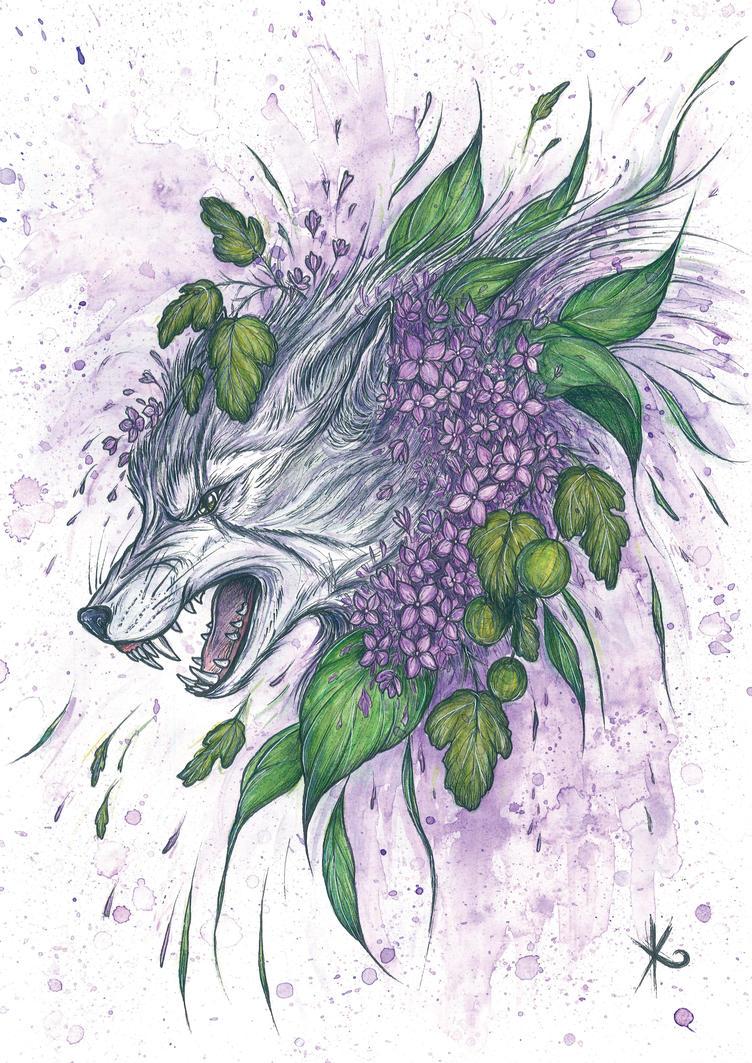 . White Wolf . by Dark-Unik0rn