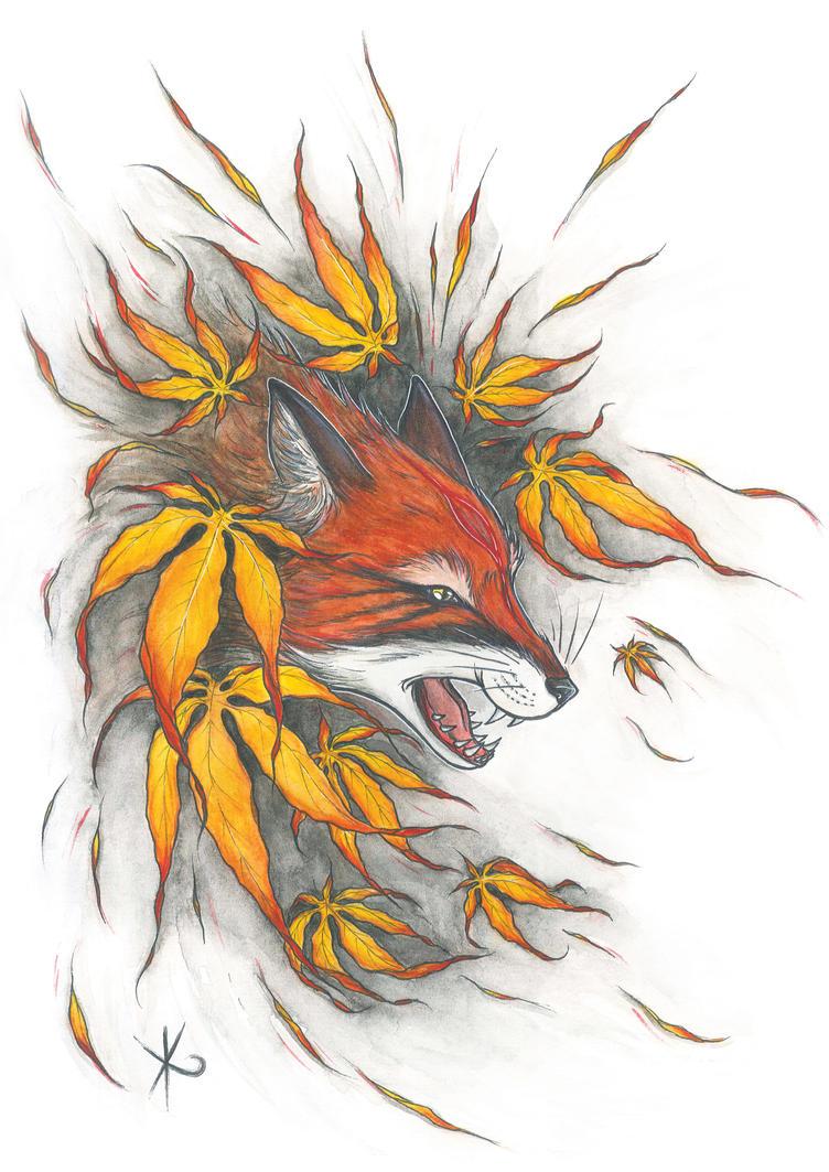 . Kitsune . by Dark-Unik0rn