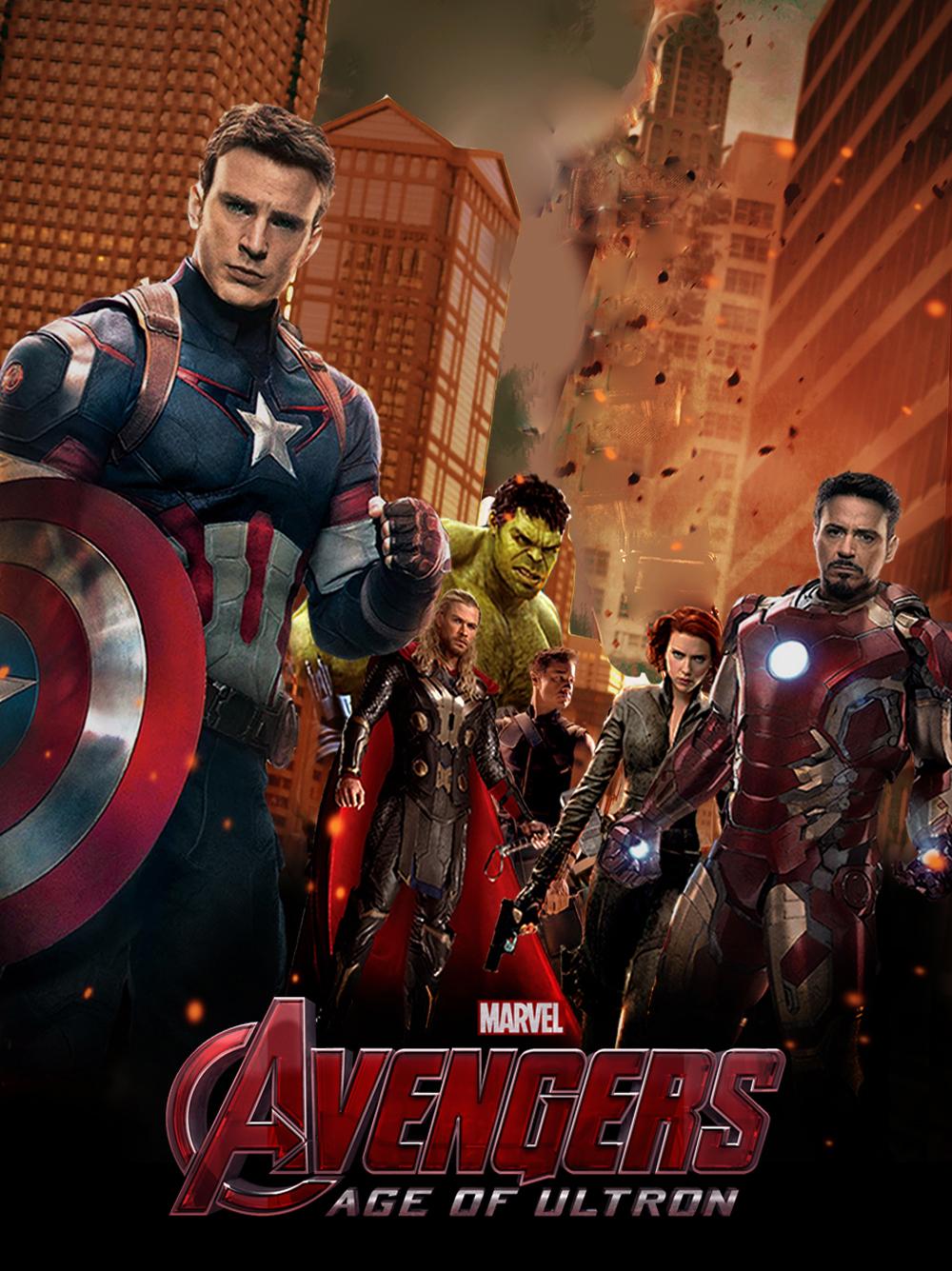 Scarlett Johansson Avengers 2 Poster