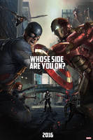Captain America:Civil War - Fanmade Poster by punmagneto