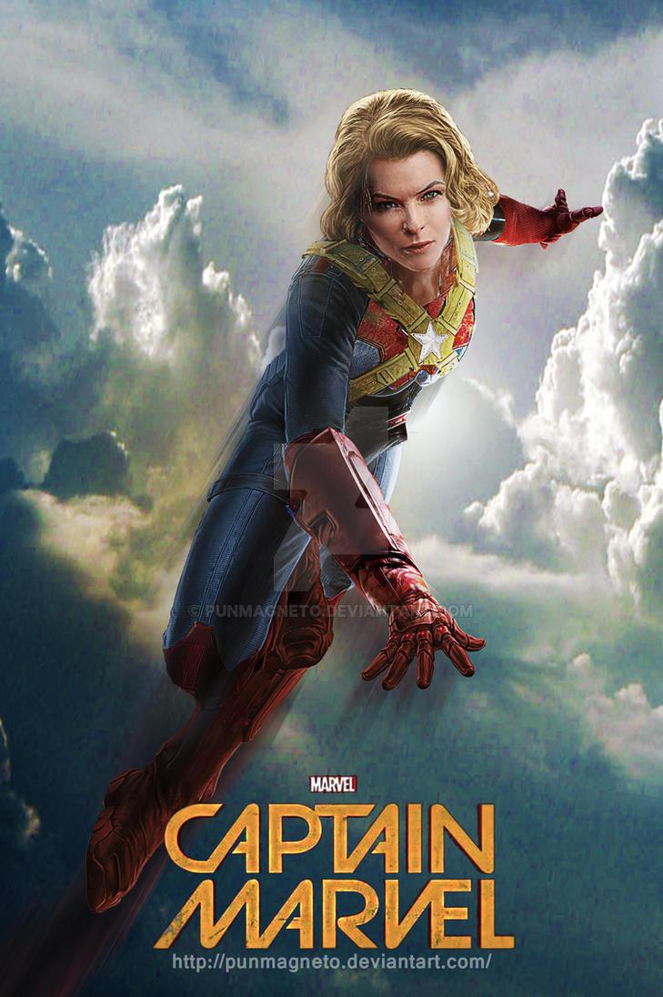 Rebecca Ferguson is Captain Marvel //Fanmade by punmagneto