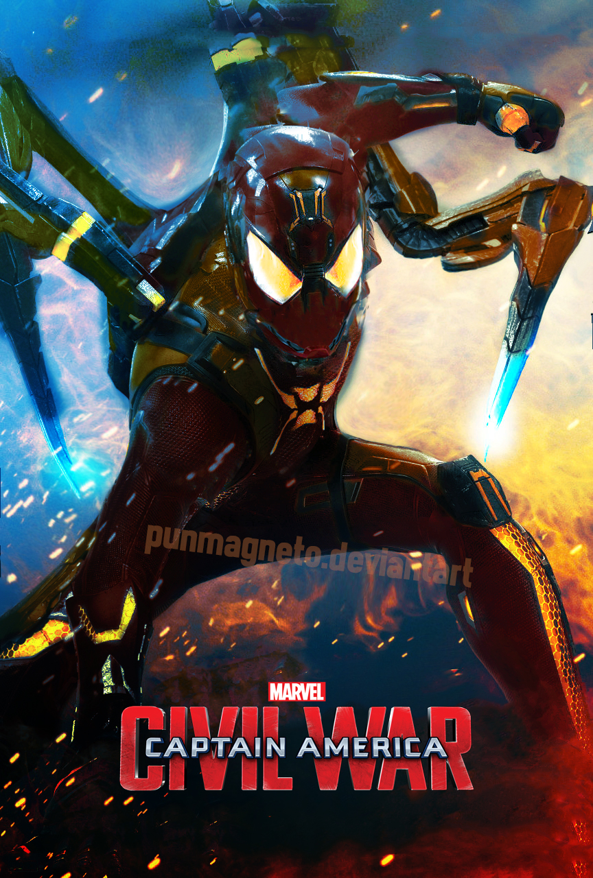 Captain America:Civil War Spidey armor fanmade by ...