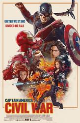 Captain America Civil war Retro Fanmade Poster