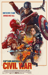Captain America Civil war Retro Fanmade Poster by punmagneto