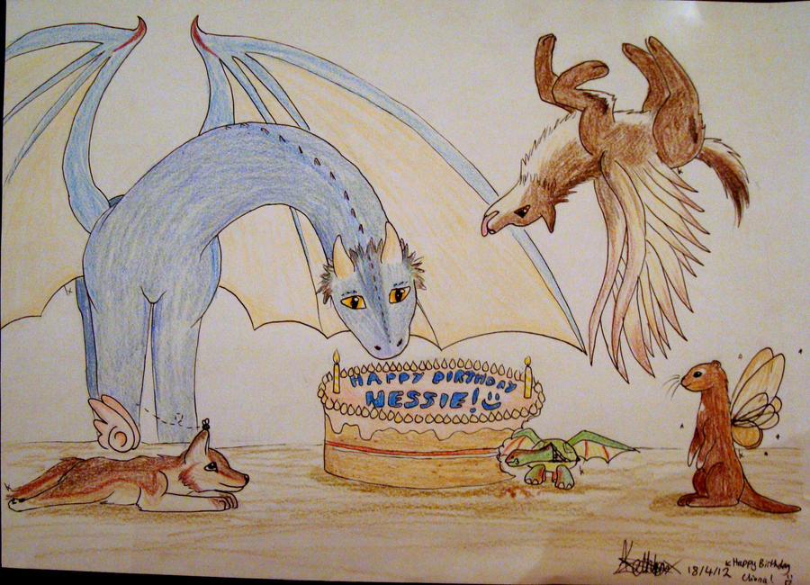 Happy Birthday Nessie! Giftart and Adoptables by XcubX