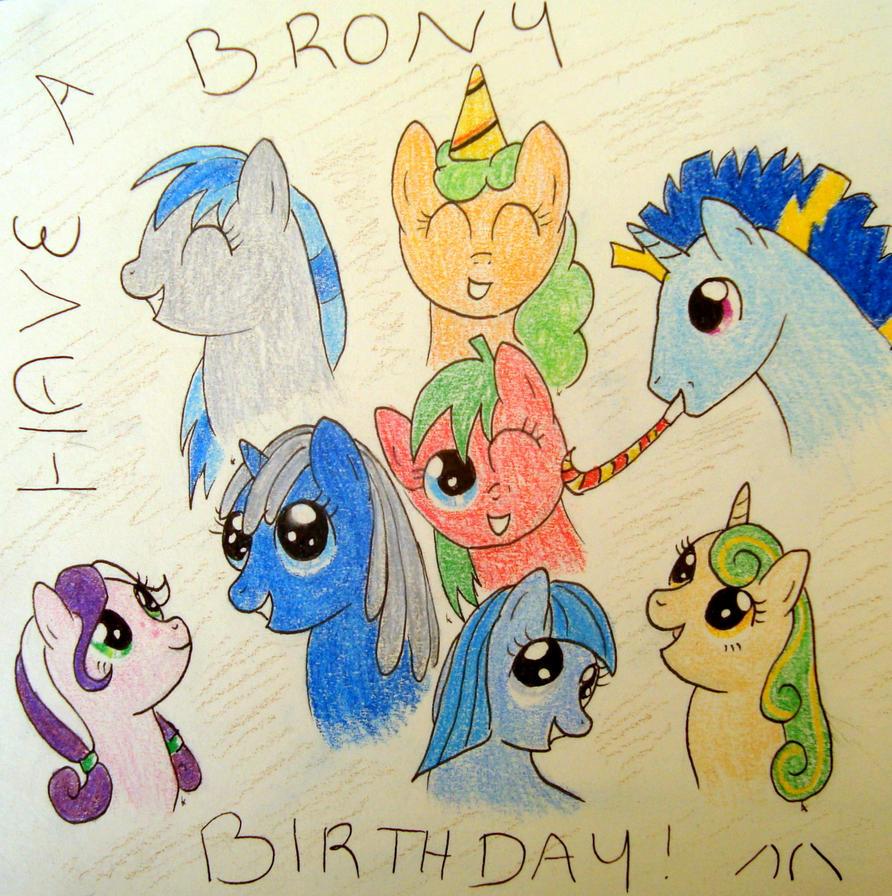 Have A Brony Birthday Lozziej By XcubX