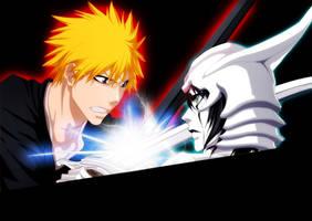 Ichigo vs Ulquiorra by benderZz