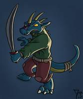nasty lizard by thazumi