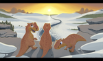 Sunset Ice Age Dinos