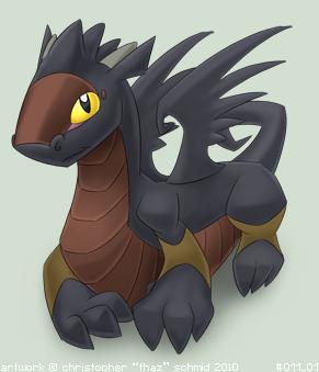 Dark Dragon Smooth Shading by thazumi