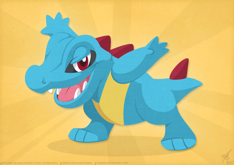 Totodile by thazumi