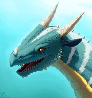 Dragon Portrait Painting