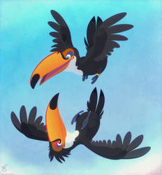 Pair 'o Toucans by thazumi
