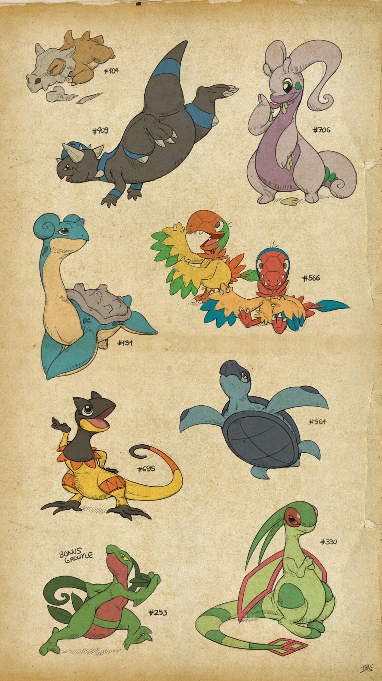 Lizard Pokesketch Batch 2 by thazumi