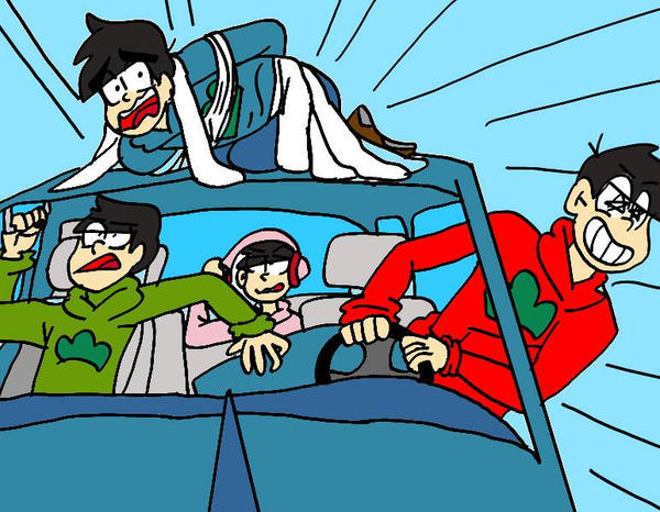 Osomatsu can't drive  by BuraiNishi