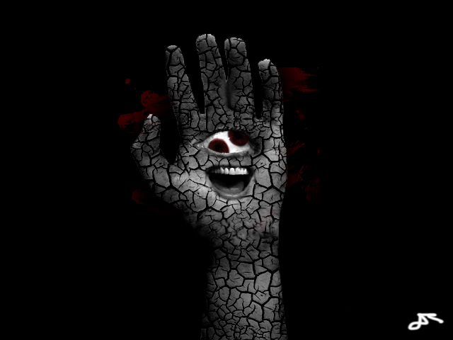 Photomanipulation  hand