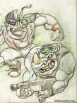 BEBOP and ROCKSTEADY Sketch