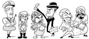 Monty Python Caricatures
