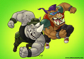 BEBOP and ROCKSTEADY color print by DadaHyena