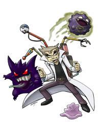 Imposter Professor Oak by DadaHyena