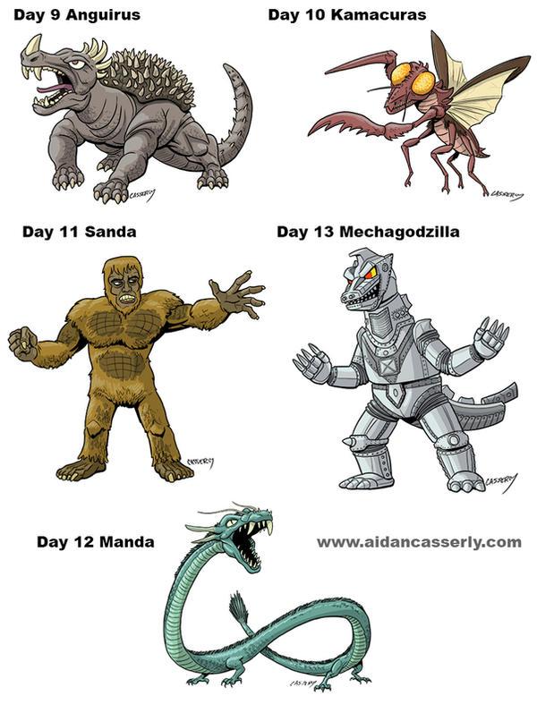 Kaiju Month Part 3 by DadaHyena