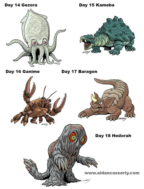 Kaiju Month Part 4 by DadaHyena