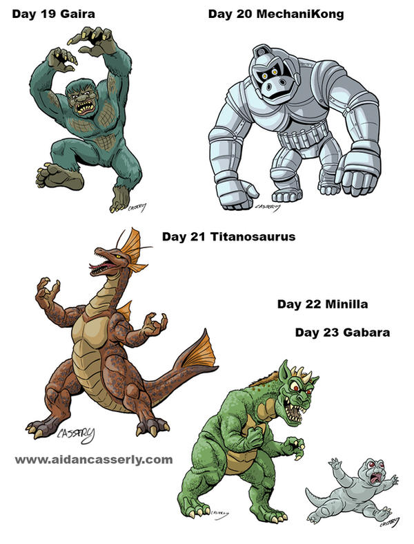 Kaiju Month Part 5 by DadaHyena