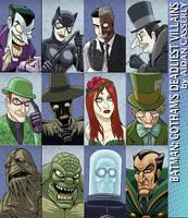 Batman - Gotham's Deadliest Villains by DadaHyena