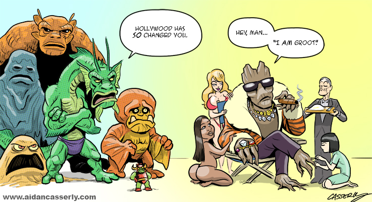 Groot Goes Hollywood by DadaHyena