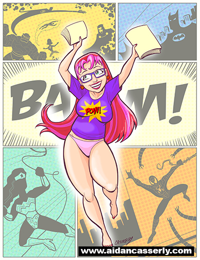 GEEKY GIRLS love Comics by DadaHyena