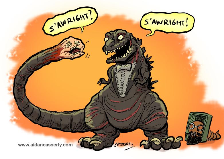 Shin Godzilla and Friend by DadaHyena
