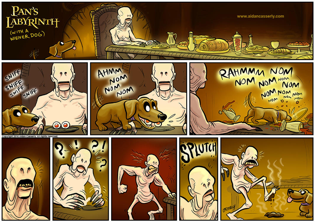 Pan's Labyrinth with a Wiener Dog by DadaHyena