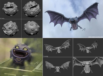ZBrush Practice Koffing and Golbat