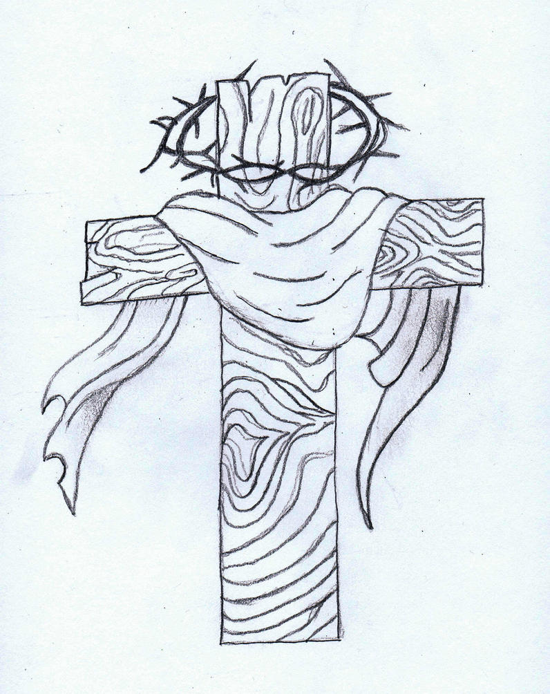 Tattoos Designs Sketches Cross Cross Tattoo Sketch by