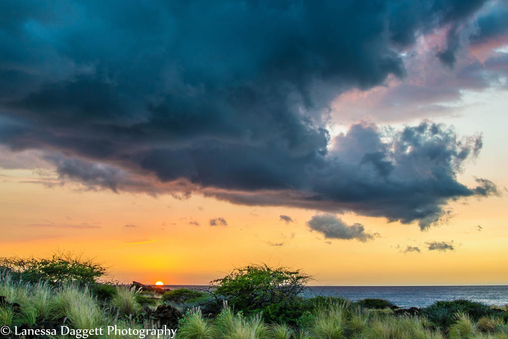 Hawaii sunset  by Daggettgirl