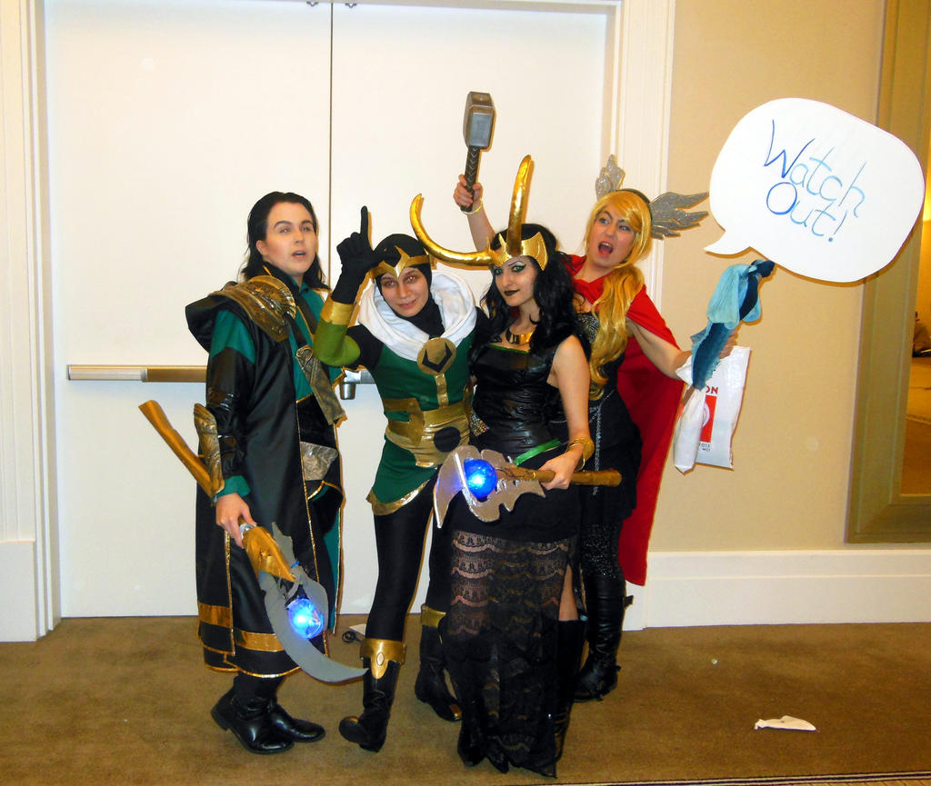 Katsucon 2013--Three Loki's and a Thor! by TgIiDgUiS