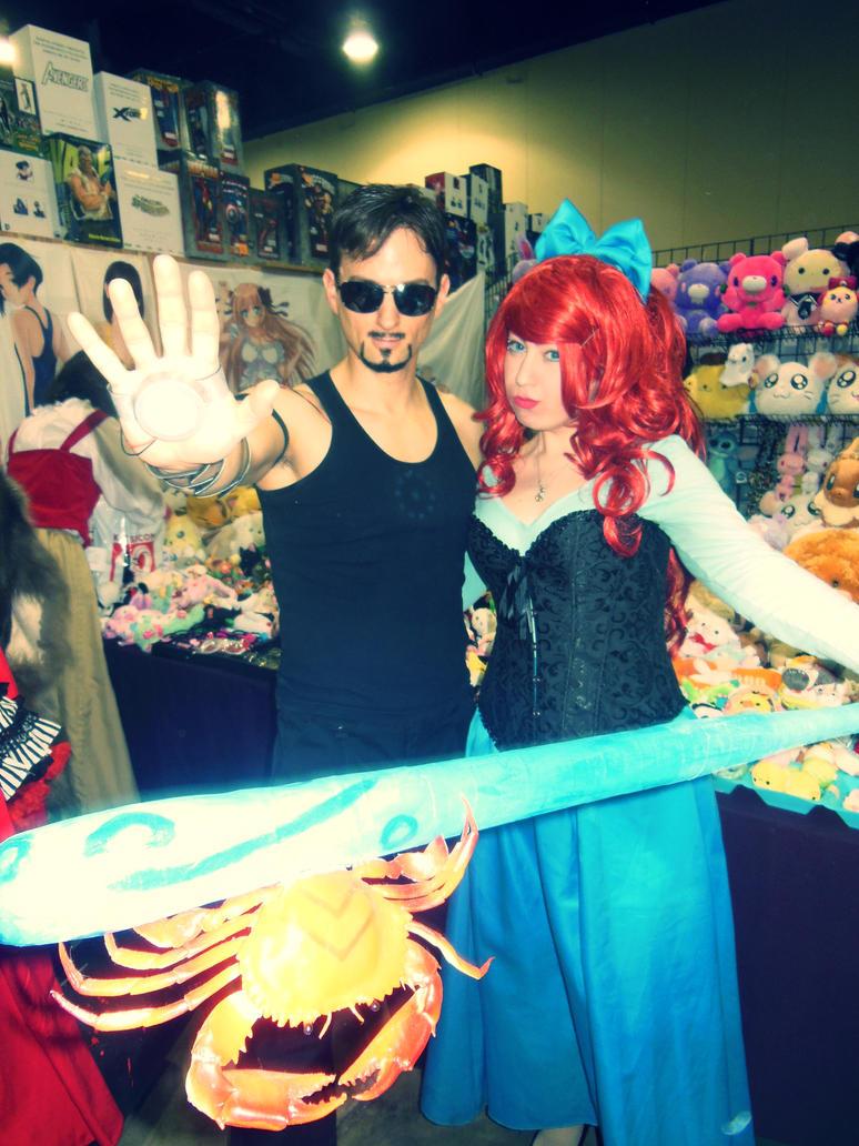 Katsucon 2013--Tony Stark and Ariel! by TgIiDgUiS